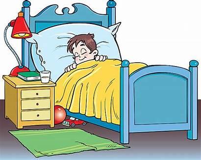 Sleeping Bed Boy Clipart Sleeps Vector Illustration
