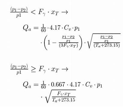 Flow Rate Air Steam Calculator Equation Valve