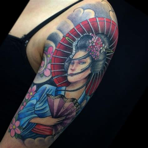 colorful japanese geisha tattoos meanings