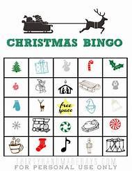 free printable christmas bingo cards - Free Printable Christmas Bingo Cards