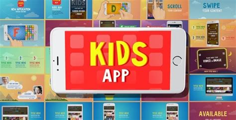 ae templates children kids app 1 0 after effects template videohive 15102562
