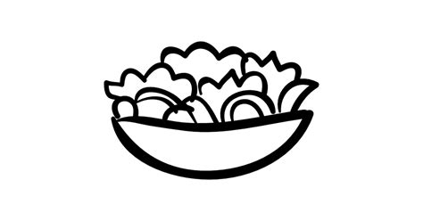 salad clipart black and white salad bowl food free food icons