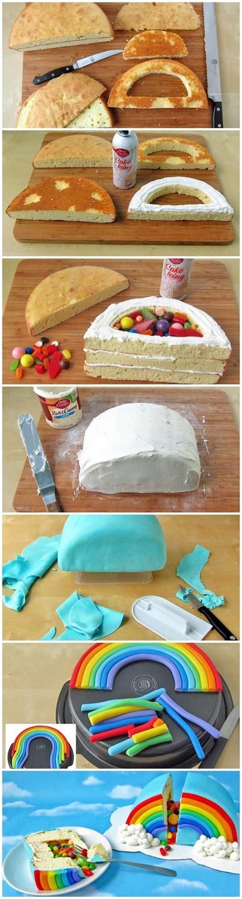 rainbow cake hervé cuisine rainbow pinata cake joybx projets quot cuisine quot gâteau pinata gâteaux et arcs en ciel