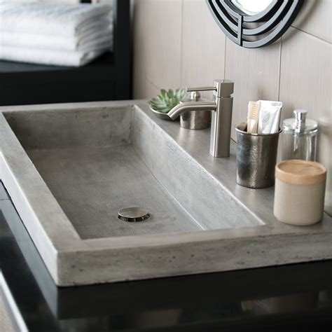 trough 3619 nativestone rectangular bathroom sink trails