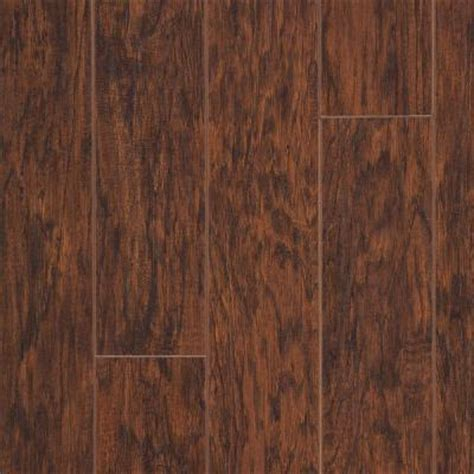 Hickory Laminate Flooring Home Depot hton bay enderbury hickory laminate flooring 5 in x