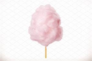 Cotton candy. 3d vector icon ~ Illustrations ~ Creative Market