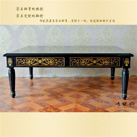 black solid wood coffee table french high end solid wood coffee table european style