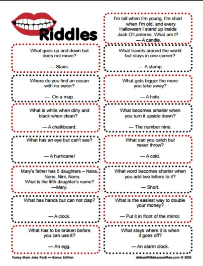 clever riddles for with answers printable riddles 116 | d60d3d05ffd81d190dc634a99812fc52