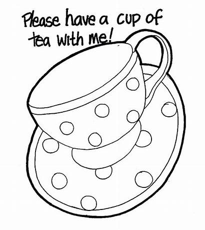 Coloring Tea Cup Pages Coffee Teapot Mug