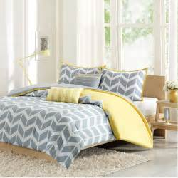 Yellow And White Chevron Curtains by Intelligent Design Nadia Comforter Set