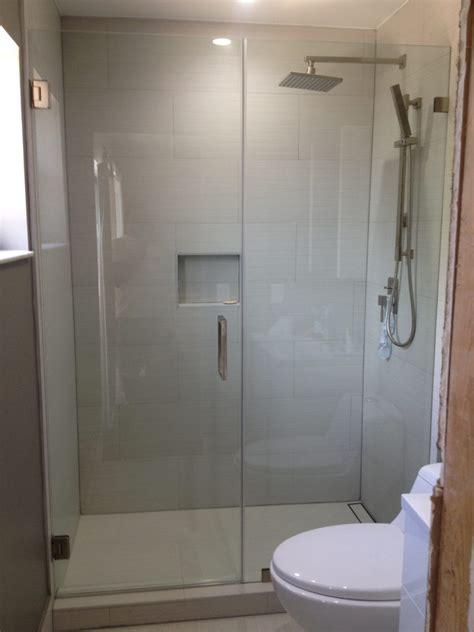 custom frameless glass shower door contractor  hasbrouck