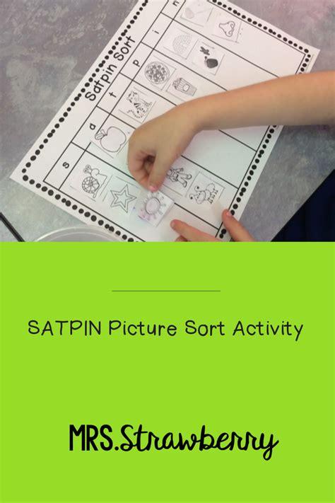 satpin picture sort  images phonics activities