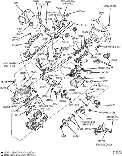 2002 F53 Steering Column Wiring Diagram by Exploded View For The 2002 Ford F250 Tilt Steering