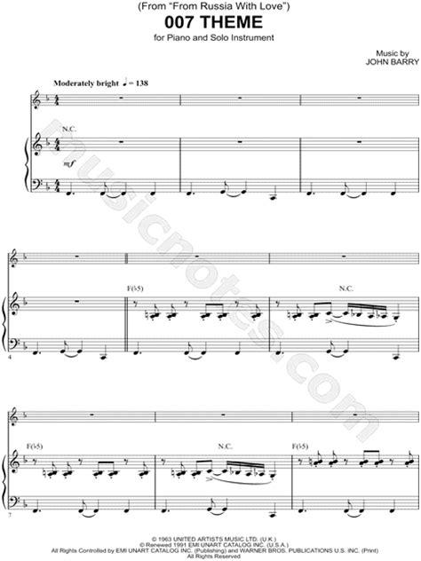 quot 007 theme piano accompaniment quot from james bond 007