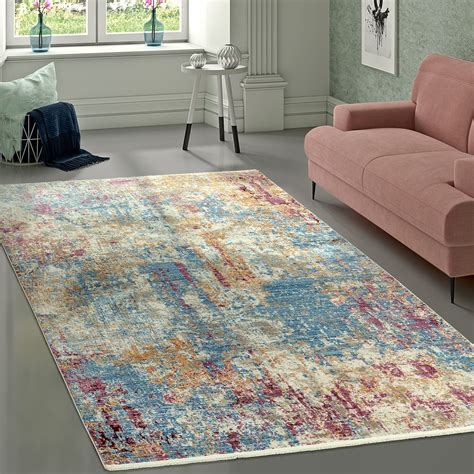 vintage teppich grün teppich vintage abstrakt mehrfarbig teppichcenter24