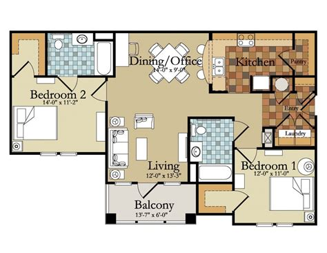 Beautiful Luxury Two Bedroom House Plans  New Home Plans