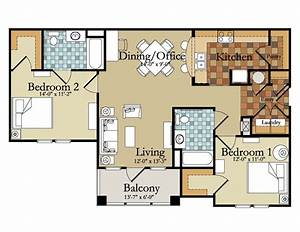 beautiful luxury two bedroom house plans new home plans With luxury 4 bedroom apartment floor plans