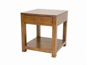 Table De Chevet Bois Massif : table de chevet oscar double plateau et 1 tiroir meubles bois massif ~ Teatrodelosmanantiales.com Idées de Décoration