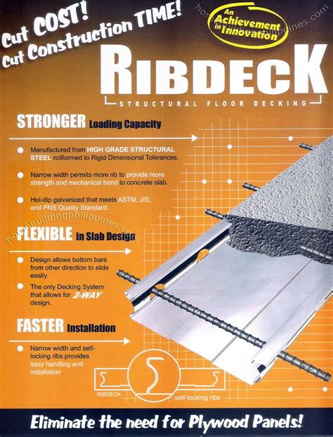 ribdeck structural floor decking  excel coil coating corporation philippines