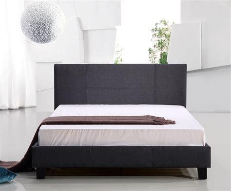 Buy Queen Linen Fabric Bed Frame Grey Online At Ikoalacom
