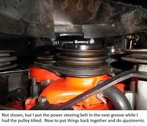 Replacing Water Pump Belt On 1972 Corvette 454