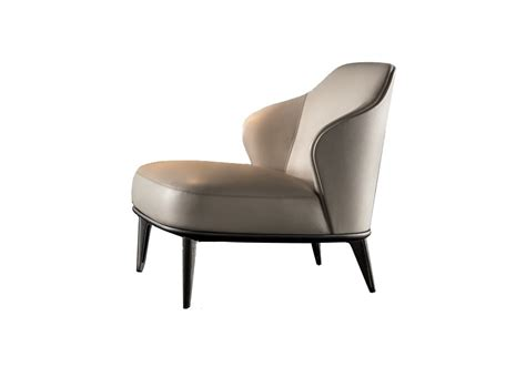 Leslie Armchair Without Armrests Minotti