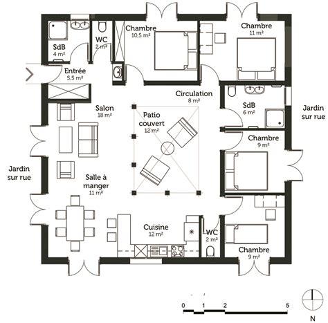 plan maison cubique 120 m 178 avec 4 chambres ooreka