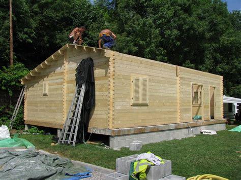 chalet habitable de 70m2 en bois en kit