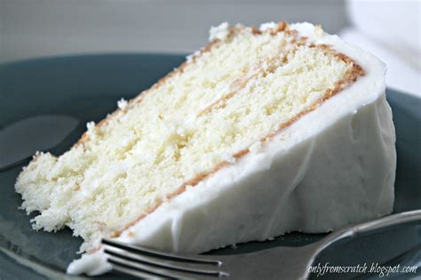 vanilla cake recipe only from scratch simple layer cake with vanilla frosting