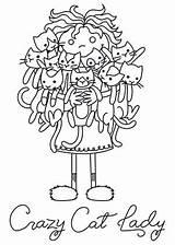 Crazy Coloring Lady Patterns Embroidery Cats Transfer Kleurplaten Dessin Disegni Machine Quilt Trace Identity Embrace Desenhos Coloriage Pdf Downloads Pusheen sketch template