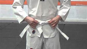 How To Tie Your Belt For Taekwondo - YouTube
