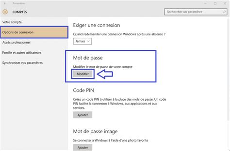 comment faire un bureau windows 10 comment changer mot de passe sospc