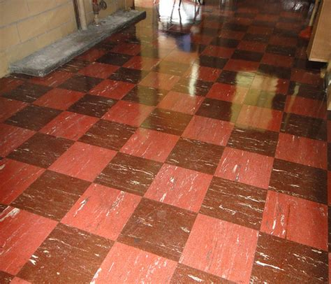 retro checker floor tile asbestos 9x9 flickr photo