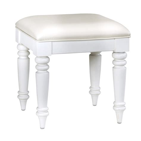 white vanity stool shop home styles 18 5 in h brushed white rectangular