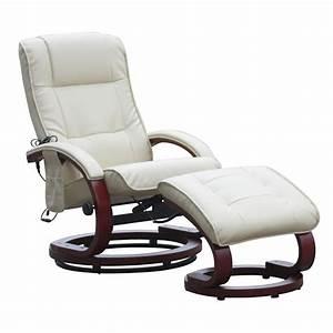 Sessel Mit Massagefunktion : relaxsessel mit hocker und massagefunktion kunstleder wei creme ebay ~ Indierocktalk.com Haus und Dekorationen
