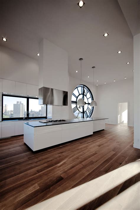 Kitchen In A Clock Tower Apartment By Minimal In New York