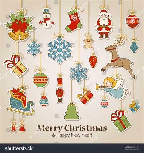 Nice and pretty merry christmas photo frames online! Merry Christmas And Happy New Year Sticker Label ...