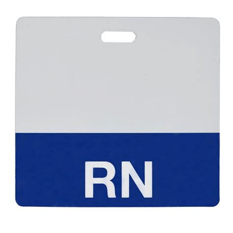 Rn Horizontal Badge Buddy With Colored Border And More Clear Quot Rn Quot Registered Horizontal Badge Buddy With