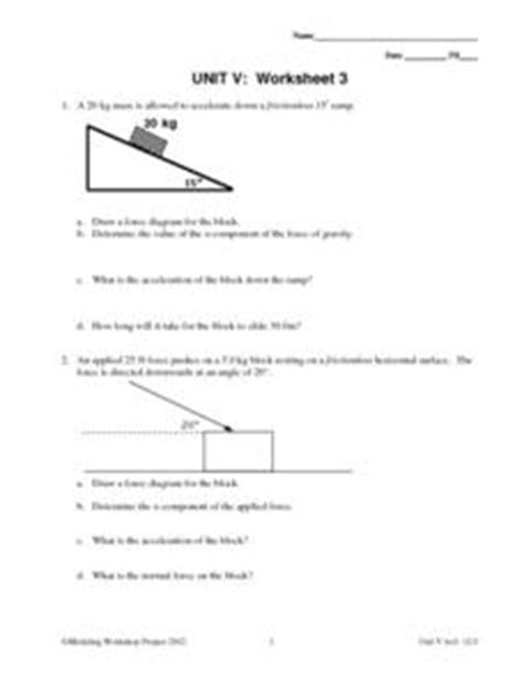 Unit V Worksheet 3  Constant Force 9th  12th Grade Worksheet  Lesson Planet