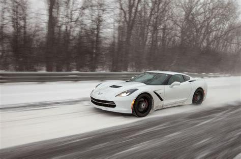 corvette turned snowmobile tackles winter