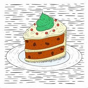Kostenlose Hand gezeichnete Vektor Kuchen Illustration