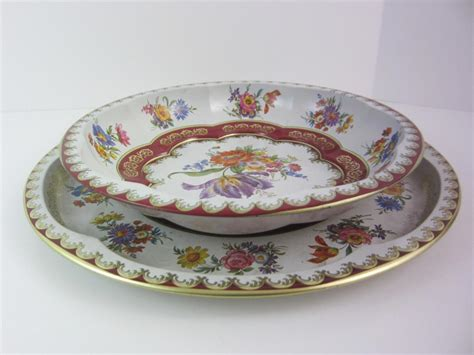 daher decorated ware tray 1971 daher decorated tin ware vintage 1971 2pc set tray