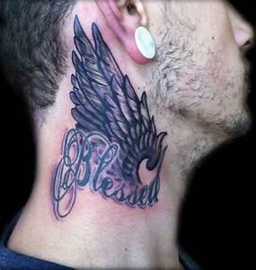 59 Wonderful Wings Neck Tattoos