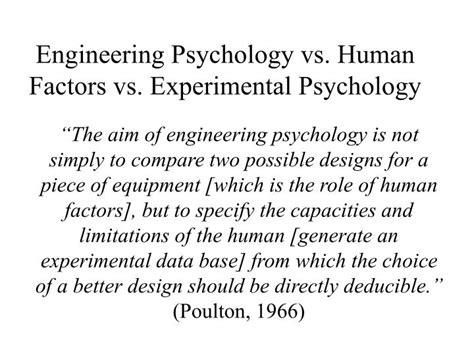 Cognitive Engineering Psyc 530 Introduction To Human