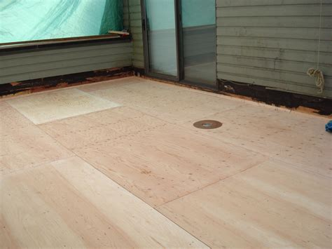 Elastomeric Deck Coating Plywood by Waterproofing Plywood Decks Deck Coating Deck Repair
