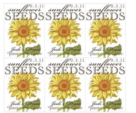 sunflower seed packet favors  fleurdelisapaperie  etsy
