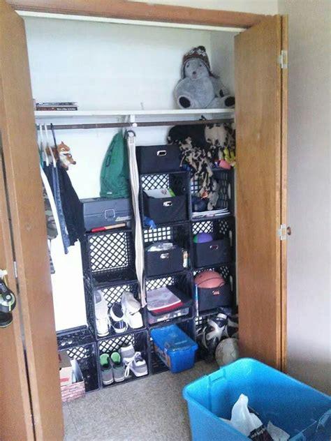 milk crates storage binshelps  closets