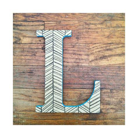 hanging wooden letter l decorative wall letter l herringbone