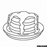 Pancake Pancakes Coloring Pages Pig Stack Give Drawing Template Sweet Treats Clipart Sketch Getdrawings Library sketch template