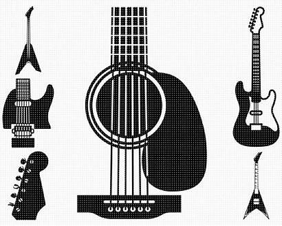 Guitar Svg Electric Metal Clipart Heavy Cut